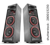 speakers boxes audio music... | Shutterstock . vector #280015250