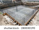 Foundation Of A New House With...