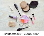 makeup eyeliner brush with... | Shutterstock . vector #280034264