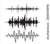 vector sound waves set | Shutterstock .eps vector #280045898