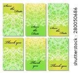 vintage vector card templates.... | Shutterstock .eps vector #280050686