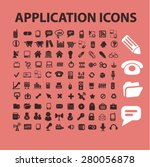 application icons set  vector | Shutterstock .eps vector #280056878