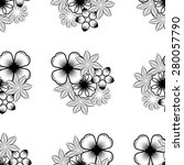 seamless wallpaper pattern with ... | Shutterstock . vector #280057790