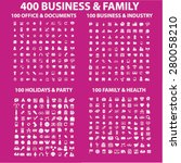 400 business  family  holidays  ... | Shutterstock .eps vector #280058210