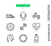 workout icons set for web and... | Shutterstock .eps vector #280066034