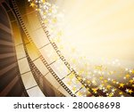 cinema background with retro... | Shutterstock .eps vector #280068698