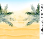 tropical nature  warm golden... | Shutterstock .eps vector #280070330