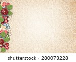 vintage background with flowers ... | Shutterstock . vector #280073228