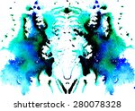 blue green with black patches... | Shutterstock . vector #280078328