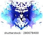 blue watercolor symmetrical... | Shutterstock . vector #280078400