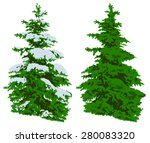 illustration of a green pine... | Shutterstock .eps vector #280083320