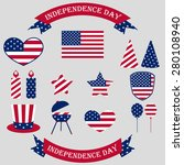 independence day. 4th of july.... | Shutterstock .eps vector #280108940