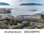 Seascape With Rocks In Brazil.
