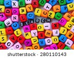 muticolor mixed  letters and... | Shutterstock . vector #280110143