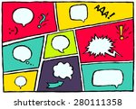 set of bright cool and dynamic... | Shutterstock .eps vector #280111358