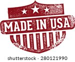 vintage made in usa rubber stamp | Shutterstock .eps vector #280121990