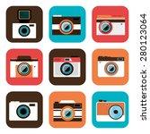 camera design over white... | Shutterstock .eps vector #280123064