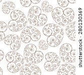 lace seamless pattern. vector... | Shutterstock .eps vector #280130369