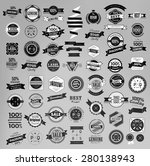 set of retro vintage labels ... | Shutterstock .eps vector #280138943