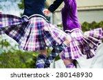 traditional scottish highland... | Shutterstock . vector #280148930