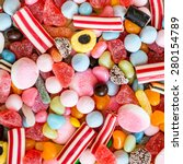 Colorful Candies And Jellies As ...