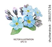 forget me not blossoming... | Shutterstock .eps vector #280157156