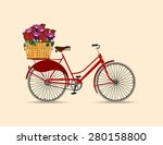 cyclists from the recent past... | Shutterstock .eps vector #280158800