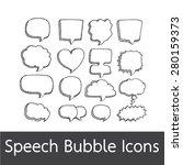 speech bubble hand drawn | Shutterstock .eps vector #280159373