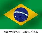 brazil flag | Shutterstock .eps vector #280164806