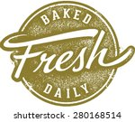 baked fresh daily menu stamp | Shutterstock .eps vector #280168514
