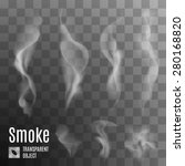 set of transparent smoke on a... | Shutterstock .eps vector #280168820