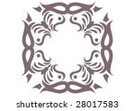 decorative wallpaper design in... | Shutterstock .eps vector #28017583