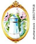 watercolor vintage hand drawn... | Shutterstock . vector #280175918