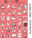 thirty doodle icons... | Shutterstock . vector #280178870