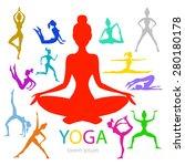 vector illustration of yoga... | Shutterstock .eps vector #280180178