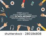 vector scholarship concept ...   Shutterstock .eps vector #280186808