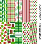 christmas patterns. holiday... | Shutterstock .eps vector #280202090