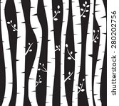 birch trees background for you  ... | Shutterstock .eps vector #280202756