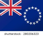 reflection flag cook islands | Shutterstock .eps vector #280206323