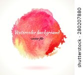 watercolor vector red pink and... | Shutterstock .eps vector #280207880