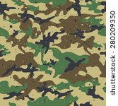seamless camouflage pattern.... | Shutterstock .eps vector #280209350