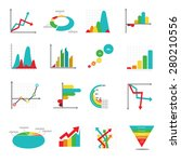 set of business marketing dot... | Shutterstock .eps vector #280210556