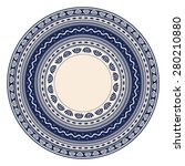 traditional romanian round... | Shutterstock .eps vector #280210880