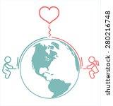 internet long distance... | Shutterstock .eps vector #280216748