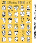 thirty doodle icons... | Shutterstock . vector #280217363