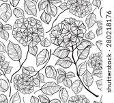 Flowers Hydrangea Seamless...