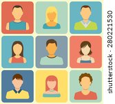 set of people icons. flat style ... | Shutterstock .eps vector #280221530