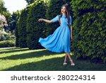 beautiful sexy young woman... | Shutterstock . vector #280224314
