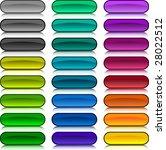 a lot of buttons.  raster... | Shutterstock . vector #28022512