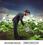 businessman take cares and... | Shutterstock . vector #280230224
